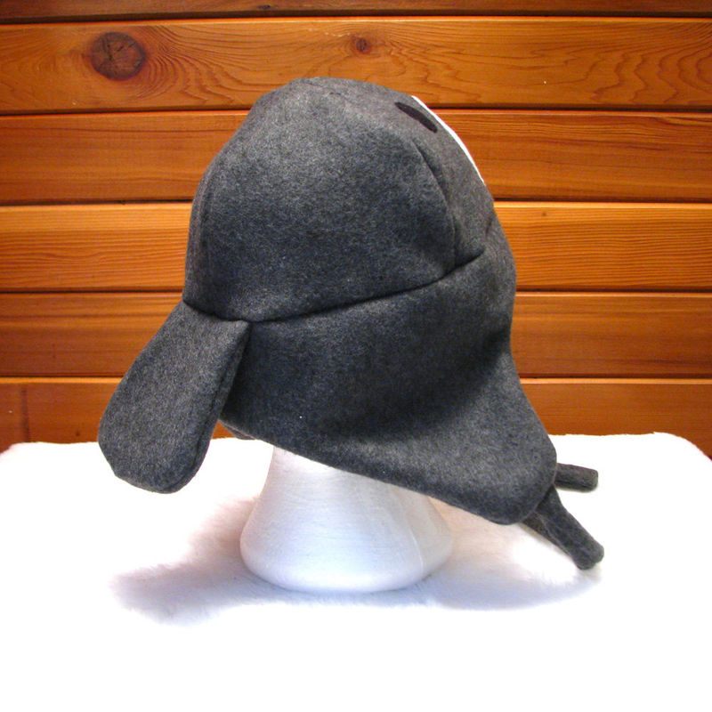 Manatee Hat - Dark Gray Fleece Trapper Hat - product image