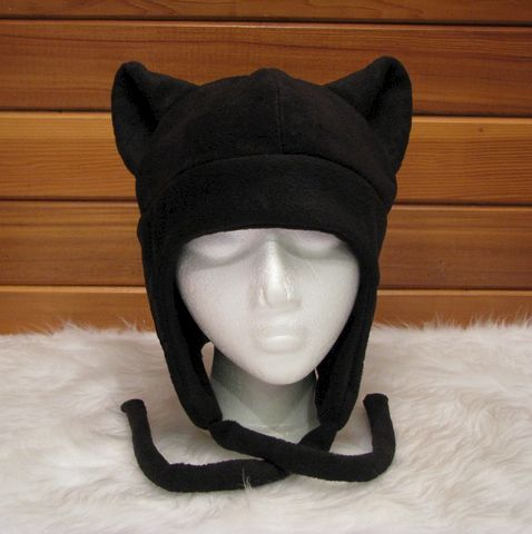 Black,Cat,Hat,-,Fleece,Kitty,Ear,Aviator,Earflap,Geekery,Accessory,black,kitty_cat,neko,animal,anime,ear_flap,black_cat_hat,cat_ear_hat,rave_hat,cat_ears,hat_neko,mens_hat,womens_hat,fleece
