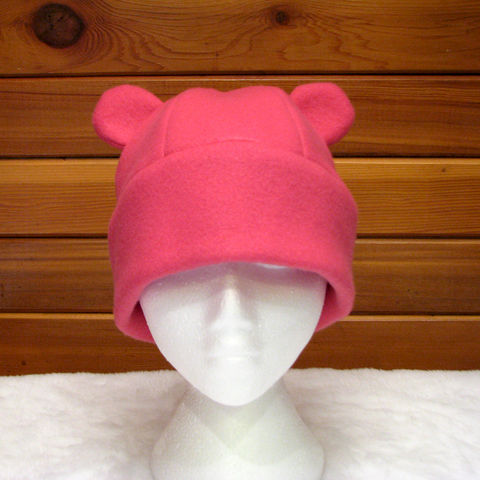 Pink,Fleece,Animal,Hat,-,Girls,Womens,Gummy,Bear,Accessories,bear_hat,animal_hat,gummy_bear,pink_hat,teen,beanie,Halloween,winter_hat,kawaii,pink,costume,girls_hat,womens_hat,fleece