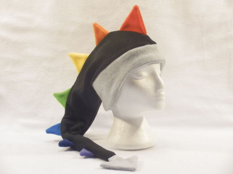 Rainbow Dragon Hat - Fleece - product image