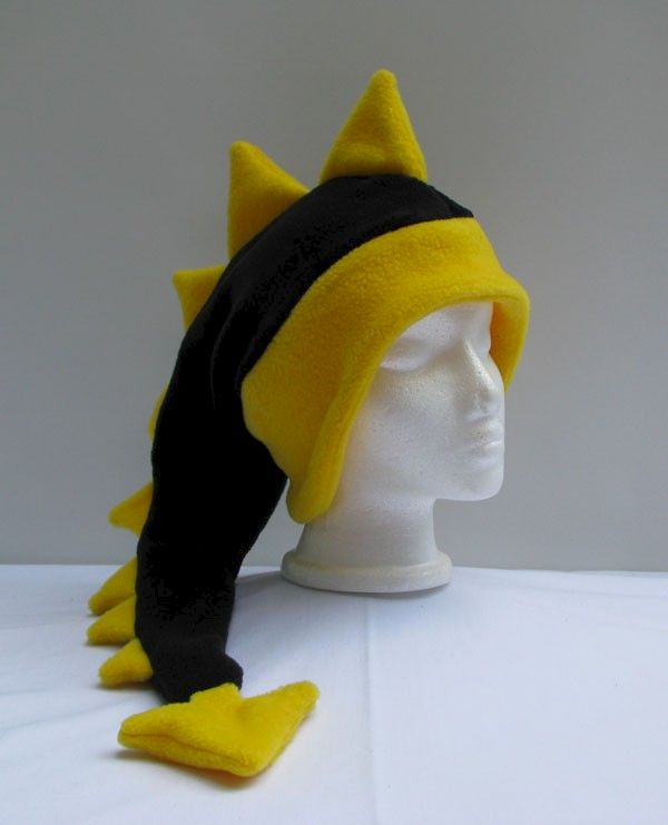 Fleece Dragon Hat - Black / Yellow - product image
