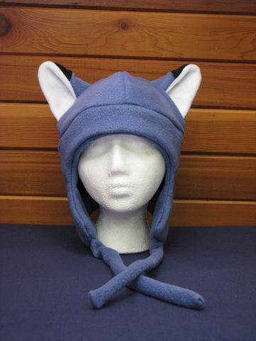 Fleece,Fox,Hat,-,Slate,Blue,Aviator,Style,Accessories,Animal,blue,fox,earflap,aviator,warm,winter,ski,men,anime,cosplay,slate,trapper_hat,snowboard_hat,fleece