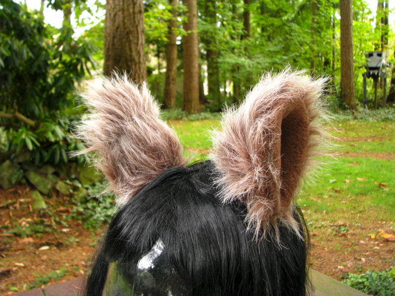 Furry Ear Cosplay Hair Clips - Faux Fur Animal Ear Costume by Ningen Headwear - product image