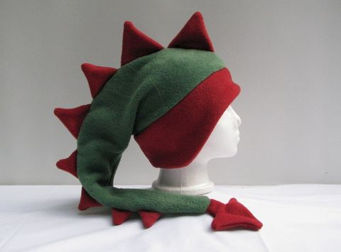 Green,and,Red,Fleece,Dragon,Hat,ningen,Accessories,Animal,green,red,dragon,fleece,dinosaur,ski,dragon_hat,dinosaur_hat,boys_hat,girls_hat,mens_hat,womens_hat,winter_hat