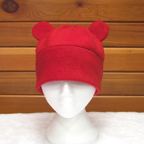 Red,Bear,Gummy,Hat,ningen,Accessories,Animal,bear_hat,gummy_bear,winter_hat,womens_hat,teen_hat,girls_hat,kawaii_hat,red,fleece_hat,etk,animal_hat,cute_hat,christmas_in_july,fleece