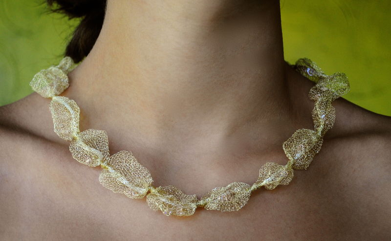 ethereally lovely mesh and crystal necklace - product images  of