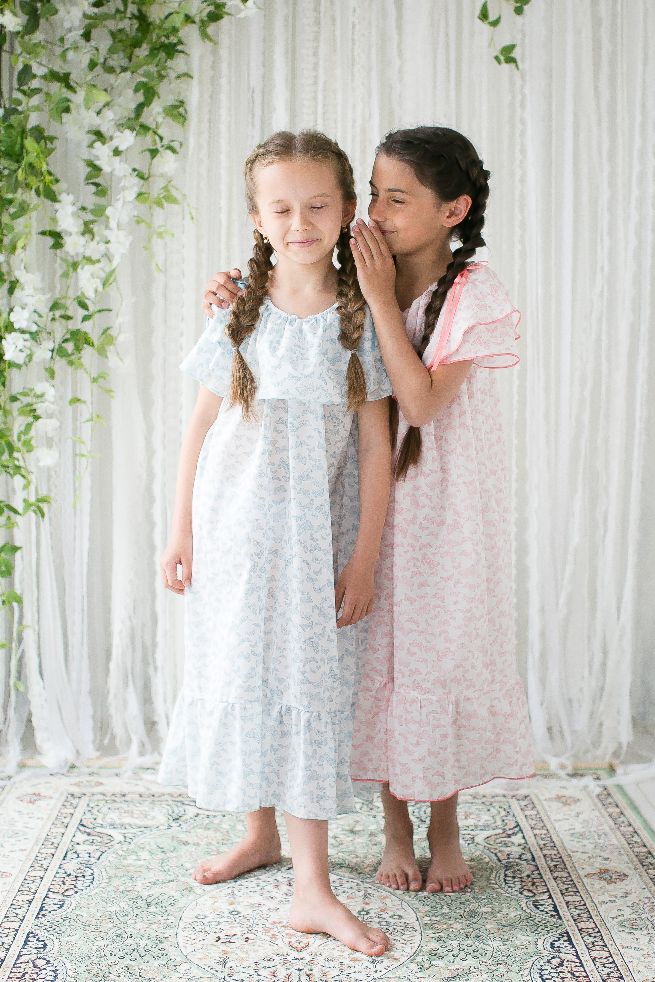 girls cotton nightgown