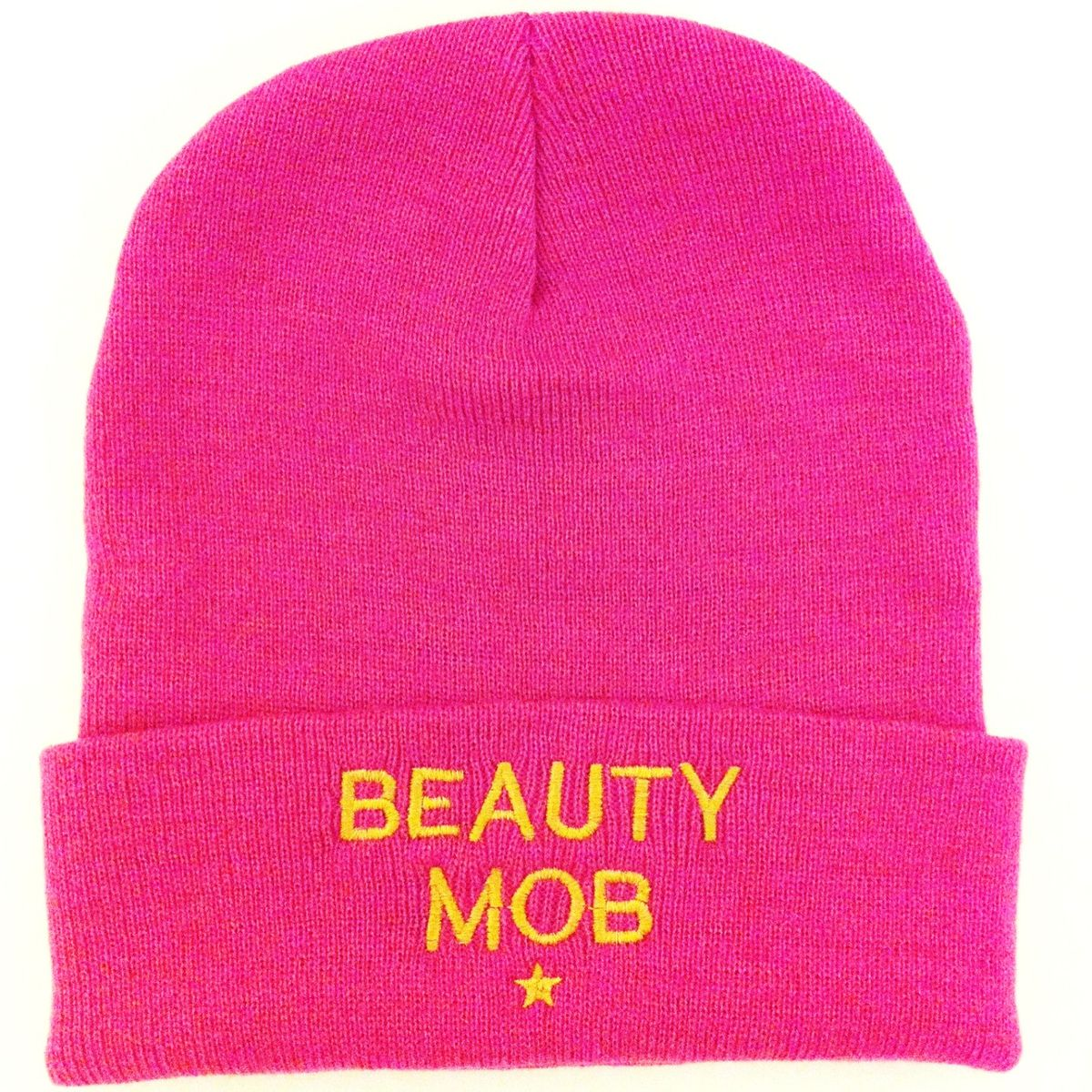 Beauty Mob Pink ' GIRLS GIRLS GIRLS' Beanie Hat - product images  of