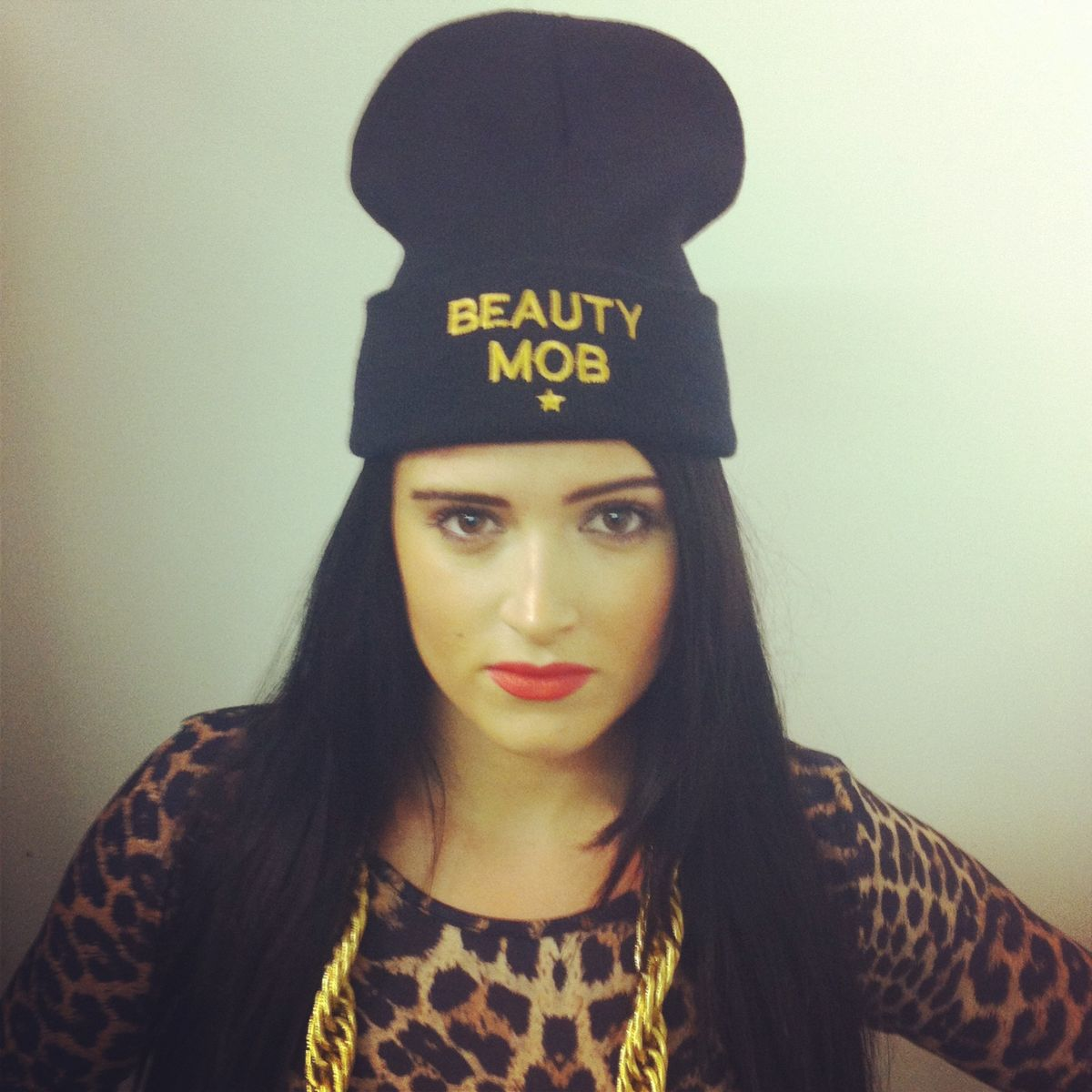 Beauty Mob Black 'MOBSTER' Beanie Hat - product images  of