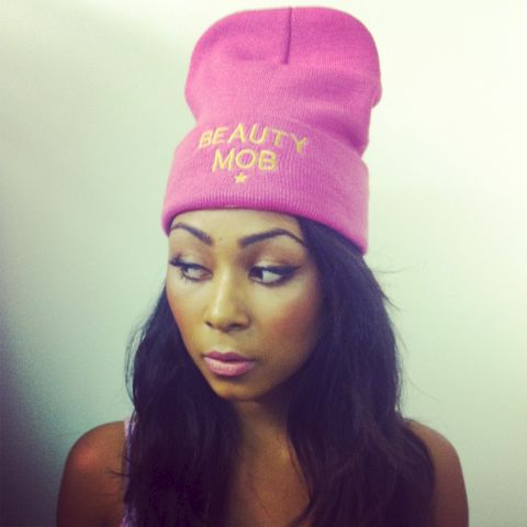 Beauty,Mob,Pink,',GIRLS,GIRLS',Beanie,Hat,Hats Beauty Mob Beanie Hats Knitted Hats Logo