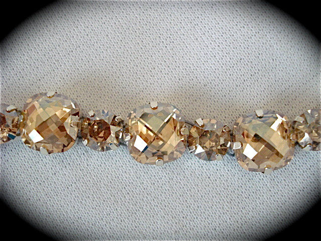 Golden Champagne Cushion Cut Bridal Bracelet - product images  of