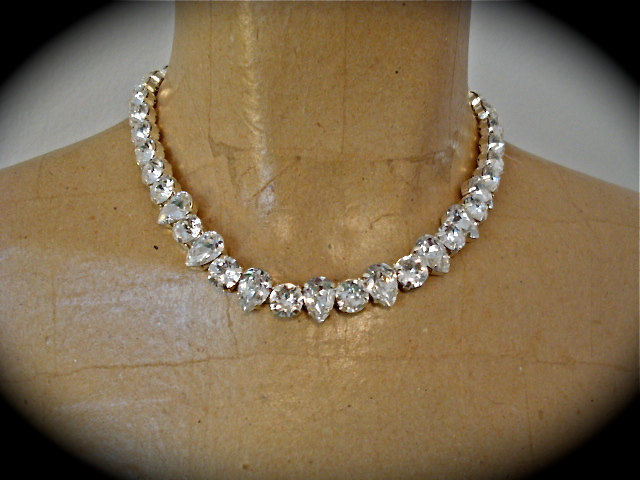 Classic Crystal Teardrop Necklace - product images  of