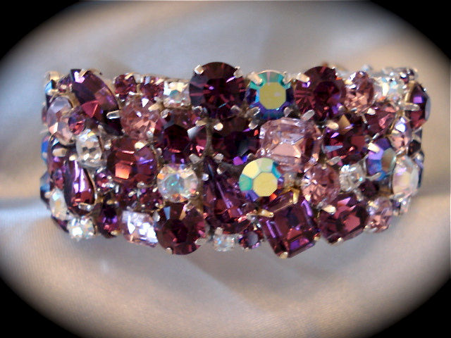 Amethyst Crystal Cuff Bracelet  - product images  of