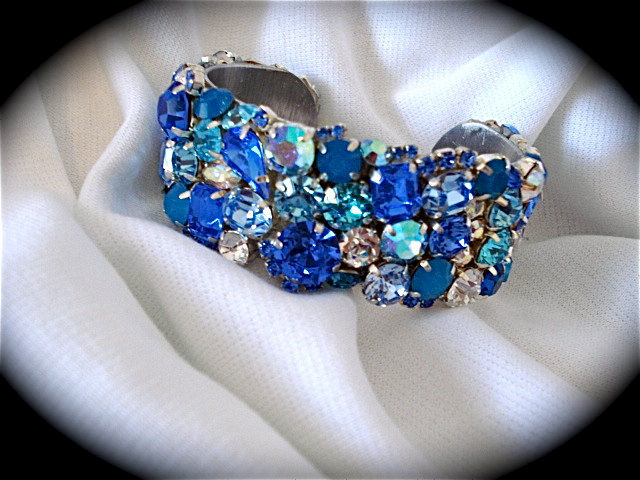 Tropical Blue Crystal Cuff Bracelet The Crystal Rose