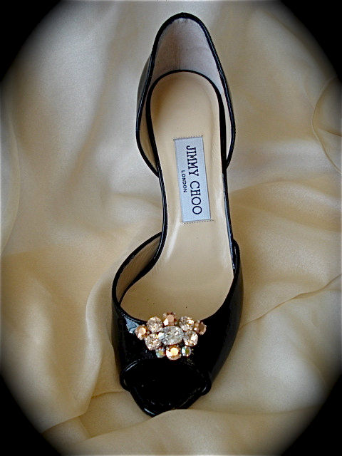 Rose Gold Champagne Shoe Clips  - product images  of