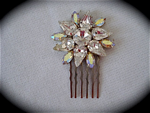 Crystal,Flower,Comb,-,Swarovski,bridal,comb,Weddings,Accessories,Hair,rhinestone_comb,bridesmaid_gift,bridal_comb,wedding_accessory,bridal_accessory,Swarovski_comb,Bridal_barrette,Bridal_hair_comb,Bridal_hair_brooch,Crystal_bridal_comb,Bridal_hair_jewel,Bridesmaid_comb,Crystal_flower,sterling silve