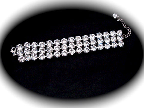 3,Strand,Rhinestone,Bracelet,-,Swarovski,Crystal,Jewelry,Glass,rhinestone_bracelet,bridesmaid_bracelet,wedding_bracelet,wedding_jewelry,crystal_bracelet,Swarovski_bracelet,Tennis_bracelet,Sabika,3_row_bracelet,3_strand_bracelet,wide_bracelet,clear_bracelet,swarovski crystal,sterling silver