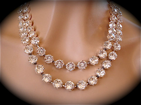 Double,Strand,Swarovski,Crystal,Statement,Necklace,Jewelry,Stone,statement_necklace,rhinestone_necklace,bridal_necklace,Wedding_necklace,Wedding_jewelry,Chunky_necklace,Bridal_jewelry,Bridal_bib_necklace,Crystal_necklace,Draped_necklace,2_strand_necklace,Strand_necklace,Sabika,swarovski crystal,s
