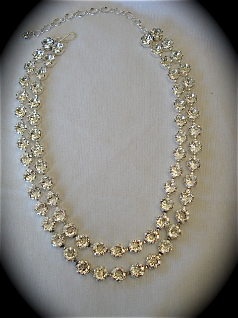 Double Strand Swarovski Crystal Statement Necklace - product images  of