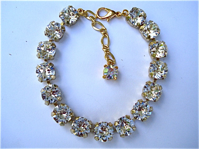Diamond Cut Clear Crystal Bridesmaid Bracelet - product images  of