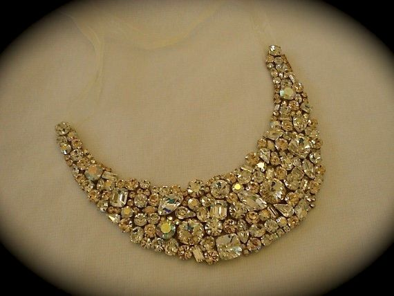 Champagne Bridal Statement Necklace - product images
