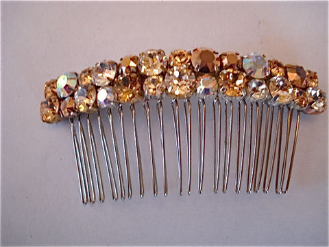 Customize,Color,Double,Row,Swarovski,Crystal,Bridesmaid,Comb,Weddings,Accessories,Hair,rhinestone_comb,bridesmaid_gift,bridal_comb,wedding_accessory,bridal_accessory,Wedding_comb,Wedding_hair_jewel,Bridal_barrette,Bridal_hair_clip,rhinestone_hair_clip,rose_gold_barrette,rose_gold_comb,champagne_comb,sterling silver