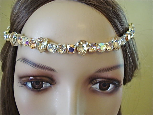 Rose Gold Crystal Bridal Brow Band - Headband - product images  of