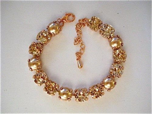 Rose Gold Pearl Bridesmaid Bracelet - product images  of