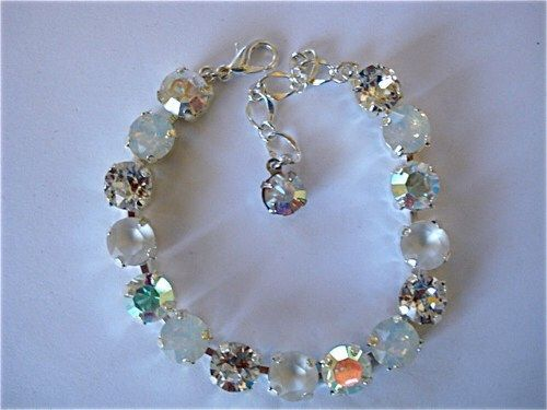 White Opal Ice Bridal Tennis Bracelet - product images
