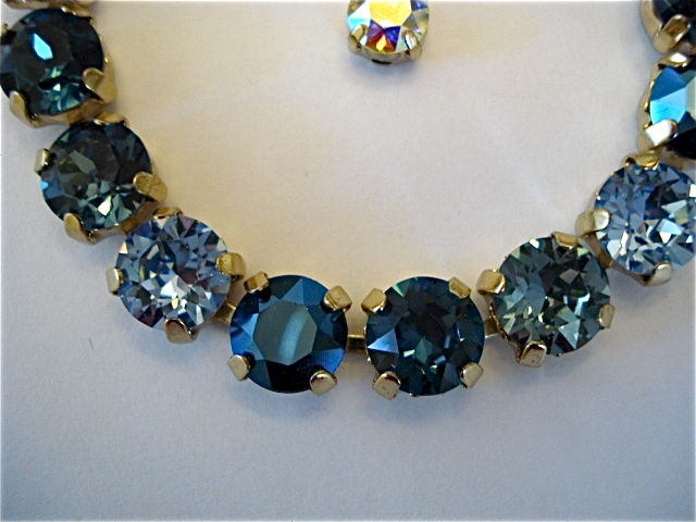 Midnight Blue Bridesmaid Tennis Bracelet - Swarovski Crystal - product images  of