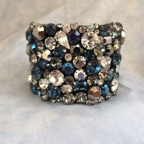 Dark,Blue,Bridal,Cuff,Bracelet,-,Swarovski,Rhinestone,Swarovski Cuff, Navy blue cuff, dark blue bracelet, Mother of the bride jewelry, Weddings,Jewelry,rhinestone_cuff,Crystal_cuff,wedding_cuff,wedding_bracelet,statement_cuff,chunky_cuff,Crystal_bracelet,Wide_bracelet,Bridal_cuff,Blue_bridal_cuff,Bl