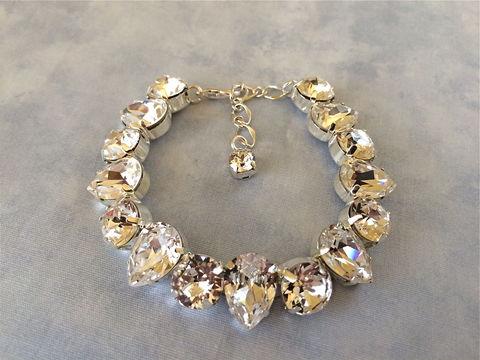 Chunky swarovski bridal teardrop pendant necklace the crystal classic teardrop bridal bracelet junglespirit Gallery