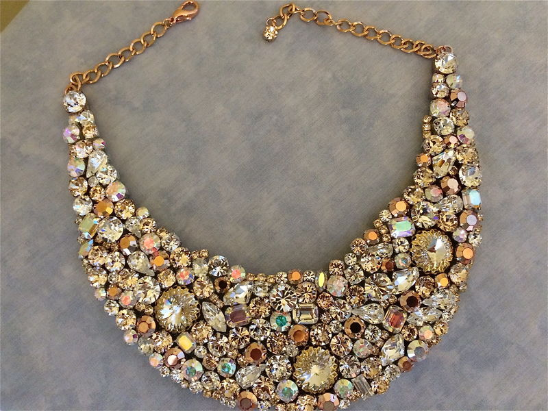 Rose Gold Bridal Statement Necklace - product images  of