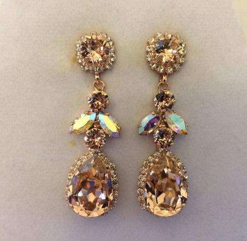 Swarovski Women Gold Glass Earrings 7er6dw
