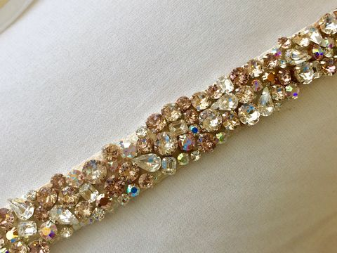 Blush,Rose,Gold,Bridal,Sash,bridal sash, crystal sash, swarovski crystal sash, bridal belt, rose gold, rose gold sash, rose gold wedding, wedding belt