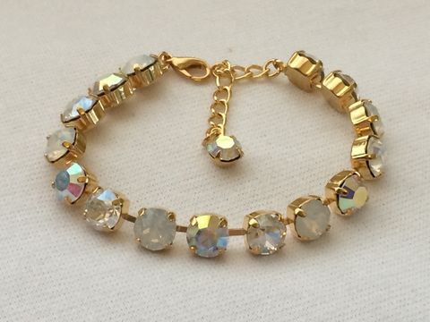 gold fremantle bracelet opal silver plate opals product white solid sterling