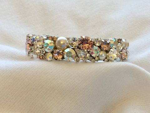Blush,Swarovski,Crystal,and,Pearl,Wedding,Cuff,Swarovski Cuff, bridal bracelet, blush bracelet, swarovski bracelet, crystal cuff, crystal bracelet, swarovski cuff, wedding jewelry, wedding bracelet, blush wedding, wedding cuff, Mother of the bride jewelry
