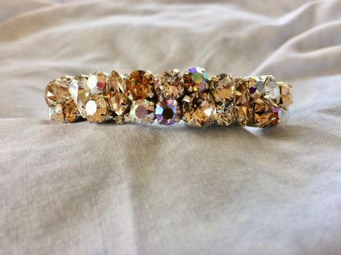 Topaz,Gold,Swarovski,Crystal,Thin,Cuff,Bracelet,Topaz cuff bracelet, Swarovski bracelet, thin cuff, Bracelet, statement_cuff, bridesmaid_bracelet, cuff bracelet, wedding bracelet, MOB jewelry, tan bracelet, blue and gold bracelet, mother of the bride