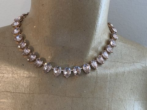 Blush,Swarovski,Crystal,Teardrop,Necklace,,Rose,Gold,or,Blush necklace, bridal necklace, wedding necklace, swarovski necklace, crystal nevklace, marquis necklace
