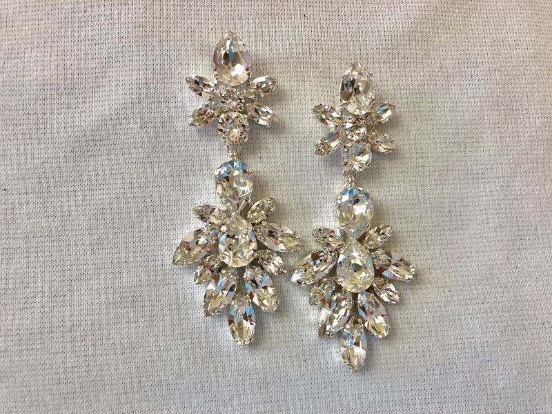 Swarovski Crystal Statement Earrings - product images  of