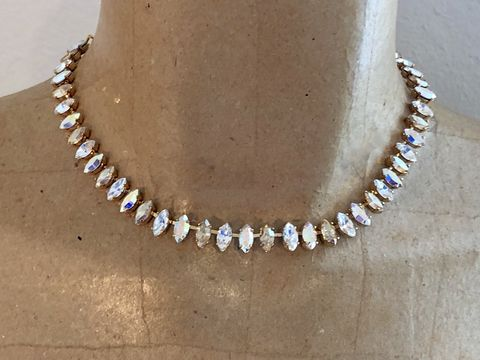 Champagne,Swarovski,Crystal,Marquis,Choker,Necklace,,silver,,rose,gold,,or,gold,Champagne_necklace, Marquis necklace, choker,  bridal necklace, wedding necklace, swarovski necklace, crystal nevklace, marquis necklace