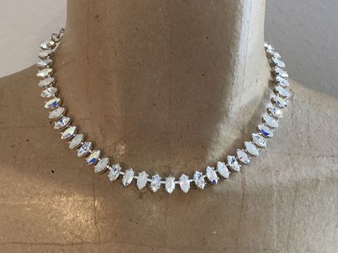 Swarovski,White,Opal,Crystal,Marquis,Choker,Necklace,,silver,,rose,gold,,or,gold,White_opal_necklacce,  Marquis_necklace, choker,  bridal necklace, wedding necklace, swarovski necklace, crystal nevklace, marquis necklace