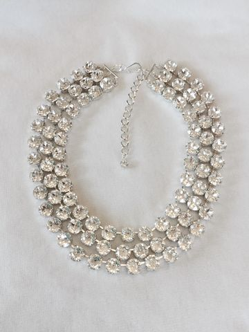 3,Strand,Swarovski,Crystal,Choker,Statement,Necklace,statement_necklace, rhinestone_necklace, bridal_necklace, Wedding_necklace, Wedding_jewelry, Chunky_necklace, Bridal_jewelry, Crystal_necklace, 3 _strand_necklace, Swarovski necklace, choker,  Mother of the bride jewelry