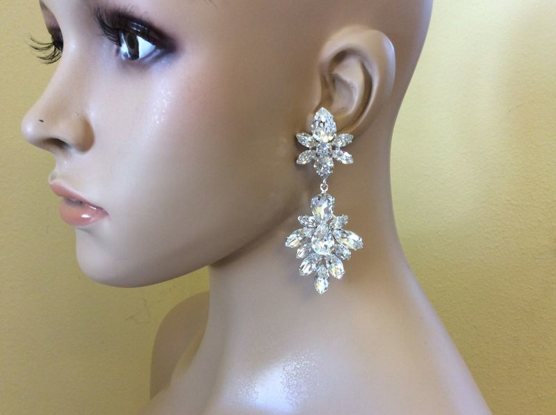 Crystal Statement Earrings - product images  of
