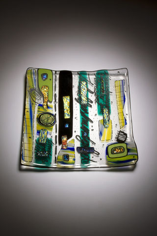 Fused,Art,Glass,Platter,Plate,PS-02,MADE,TO,ORDER,platter art glass giftware