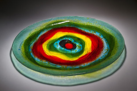 Fused,Art,Glass,Bowl,BL-02,MADE,TO,ORDER,art glass giftware