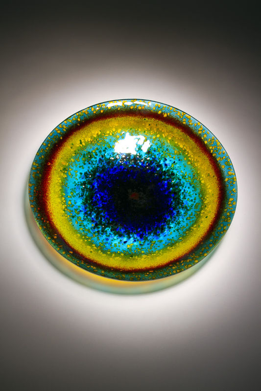 Fused Art Glass Platter Bowl BS-01 - MADE TO ORDER - product images