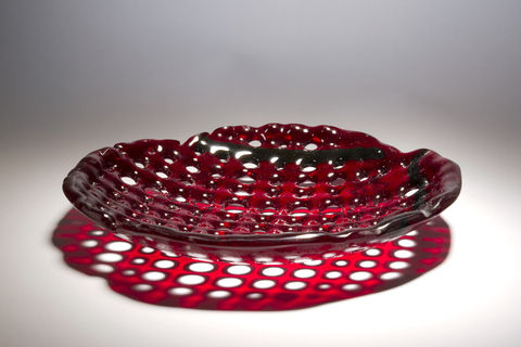 Fused,Art,Glass,Platter,Plate,BL03,art glass giftware