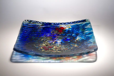 Fused,Art,Glass,Platter,Plate,PS-04,MADE,TO,ORDER,art glass giftware