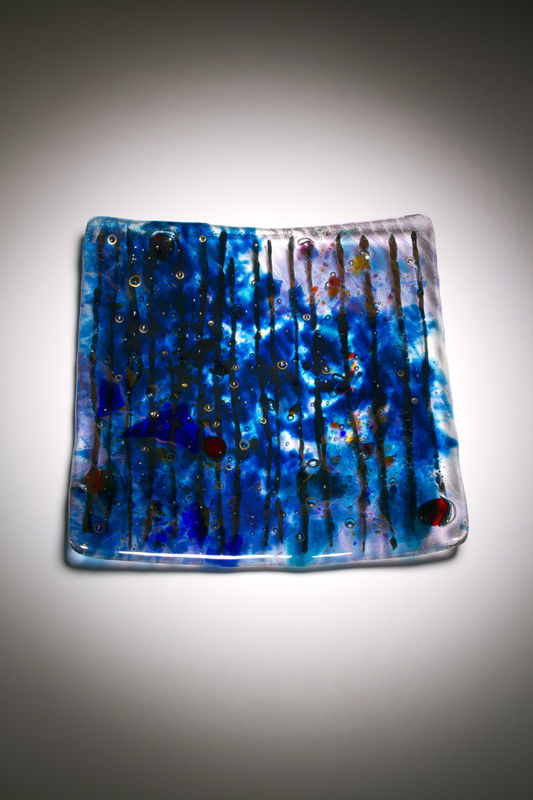 Fused Art Glass Platter Plate PS-06 MADE TO ORDER - product images